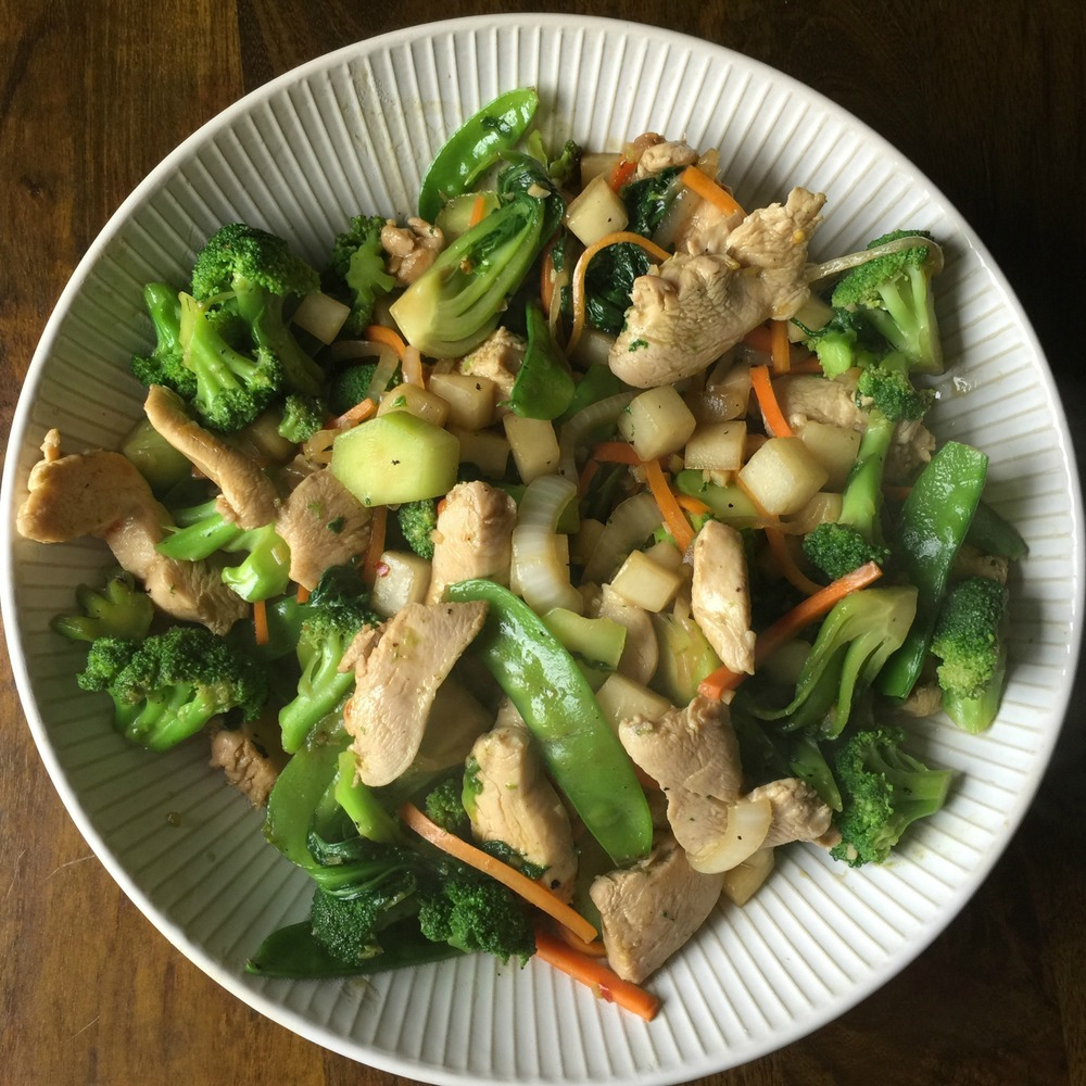 Stir-Fried Chicken and Veg