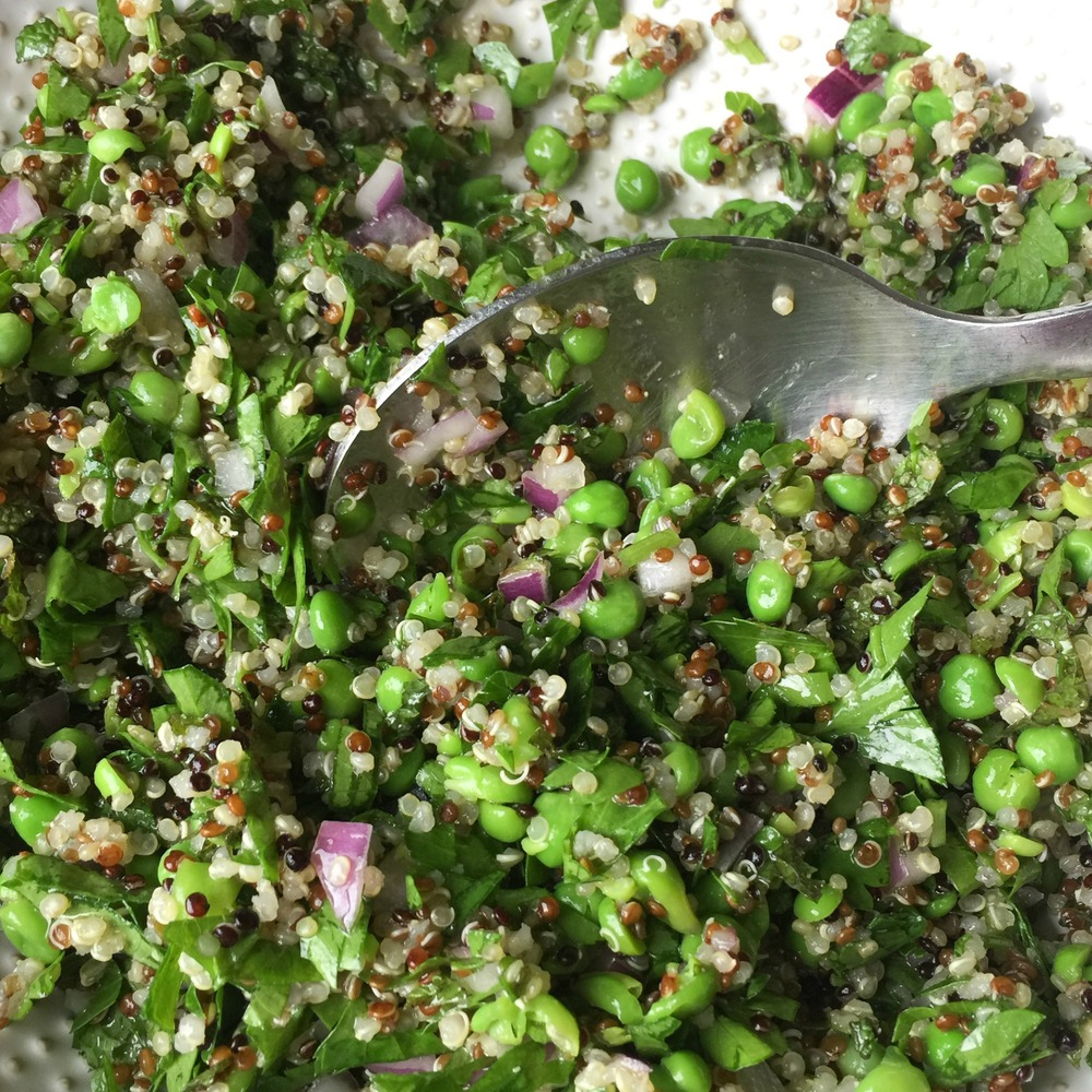 Quinoa, Pea and Mint Tabbouleh