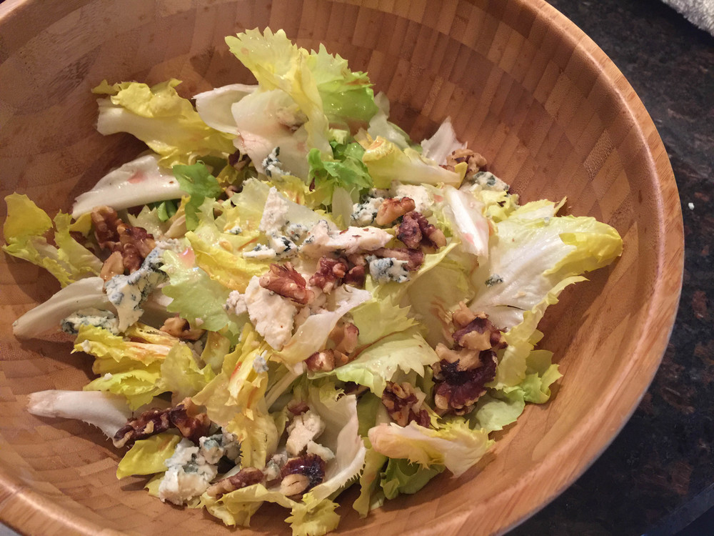 Escarole Salad With Walnuts and Roquefort