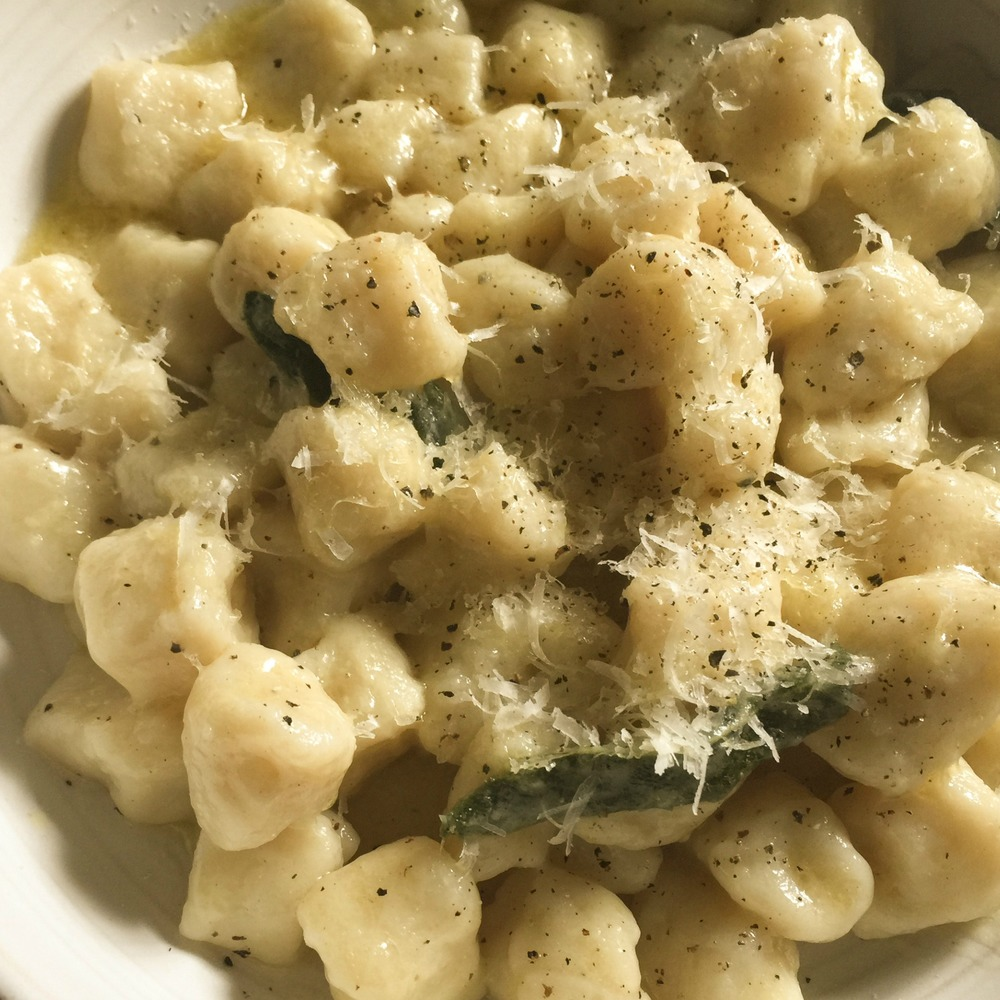 Potato Gnocchi with Butter and Sage Sauce