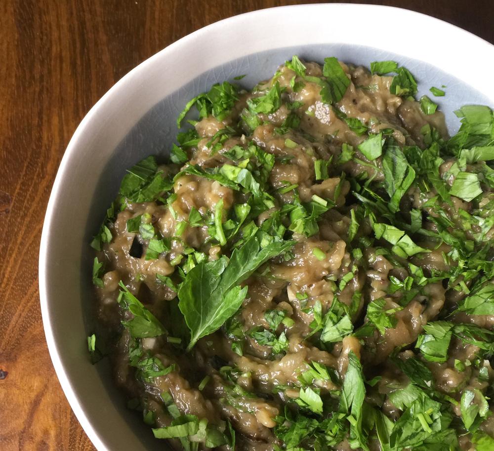Charred Eggplant Salad