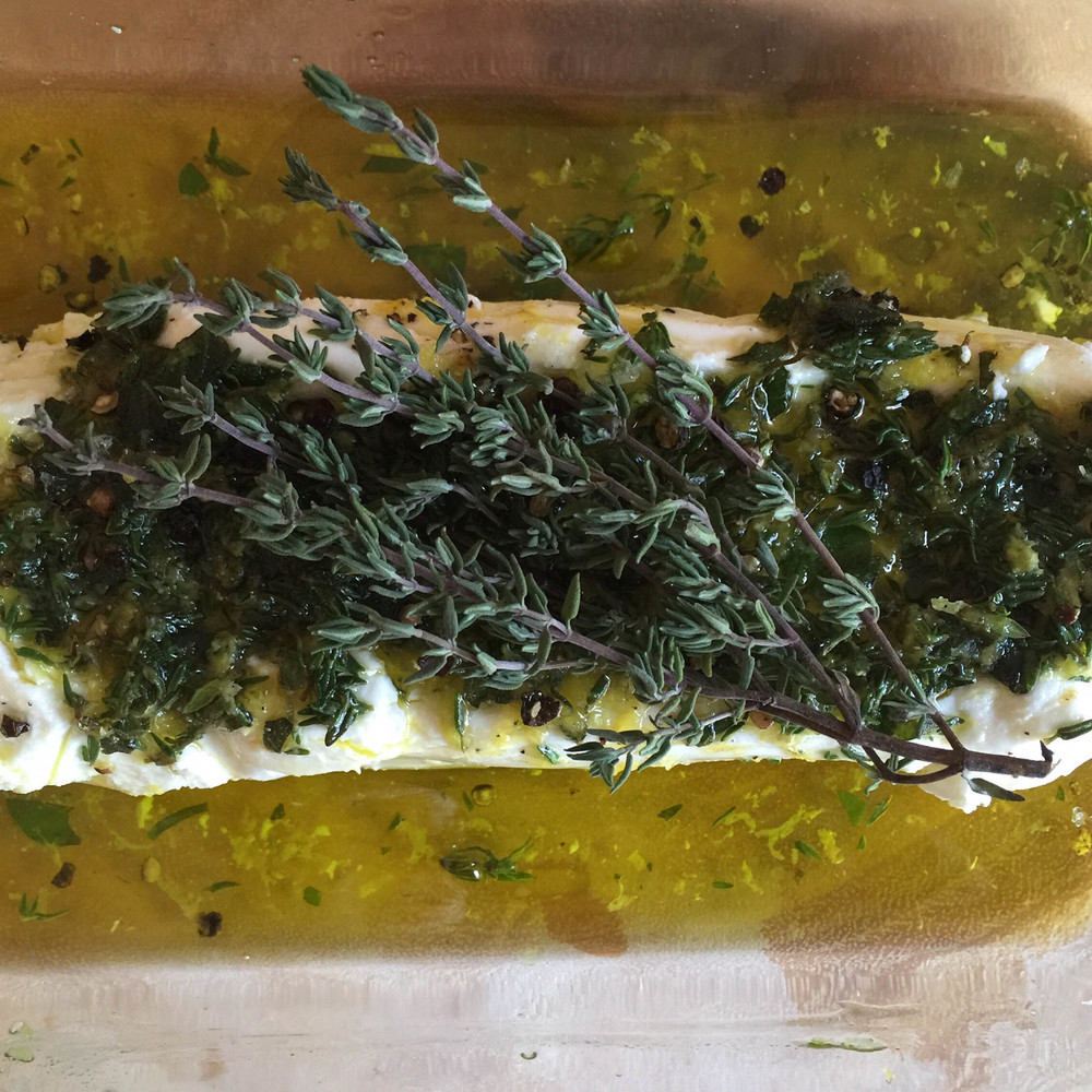 Marinated Goat Cheese (Vegetarian)