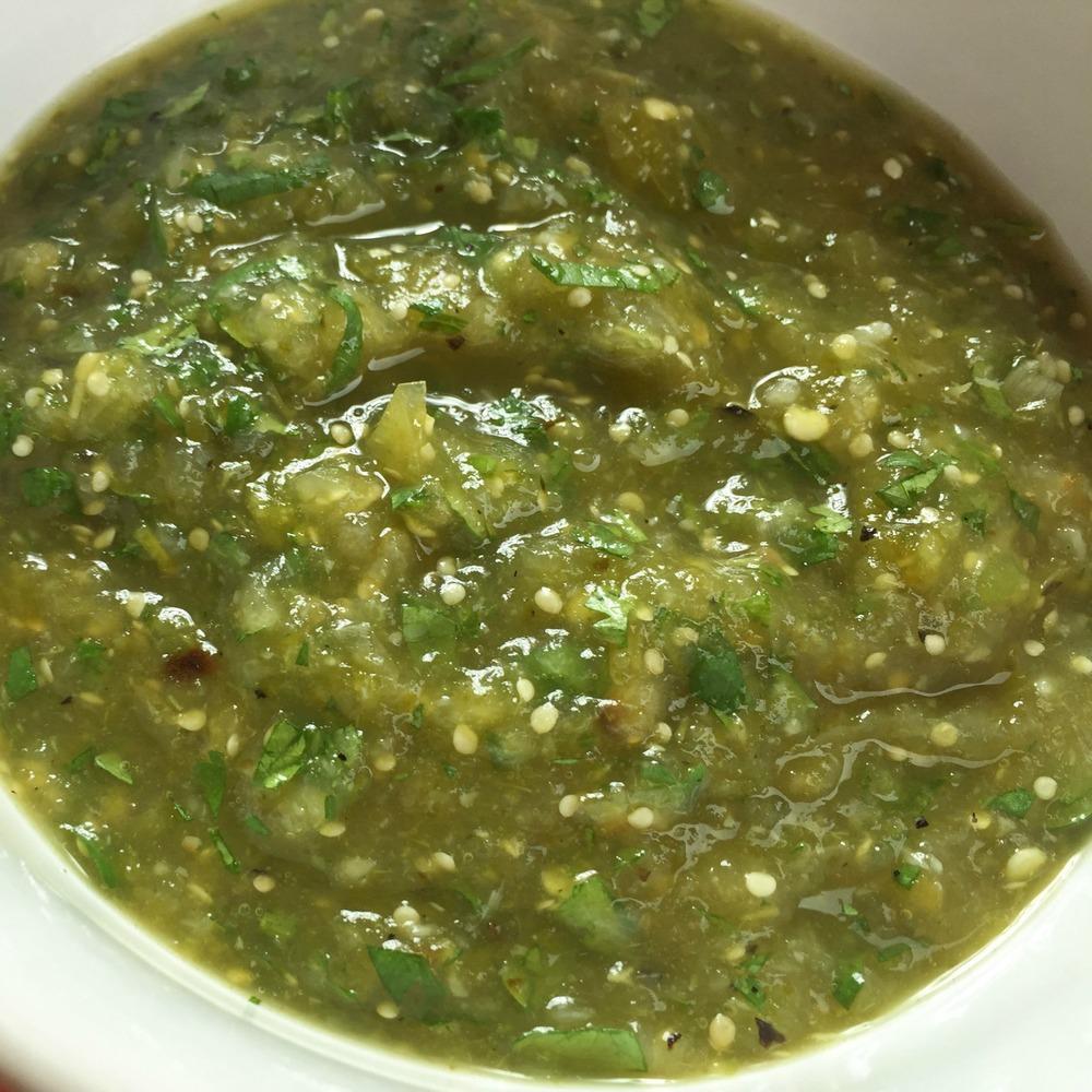 Roasted Salsa Verde (Vegan)