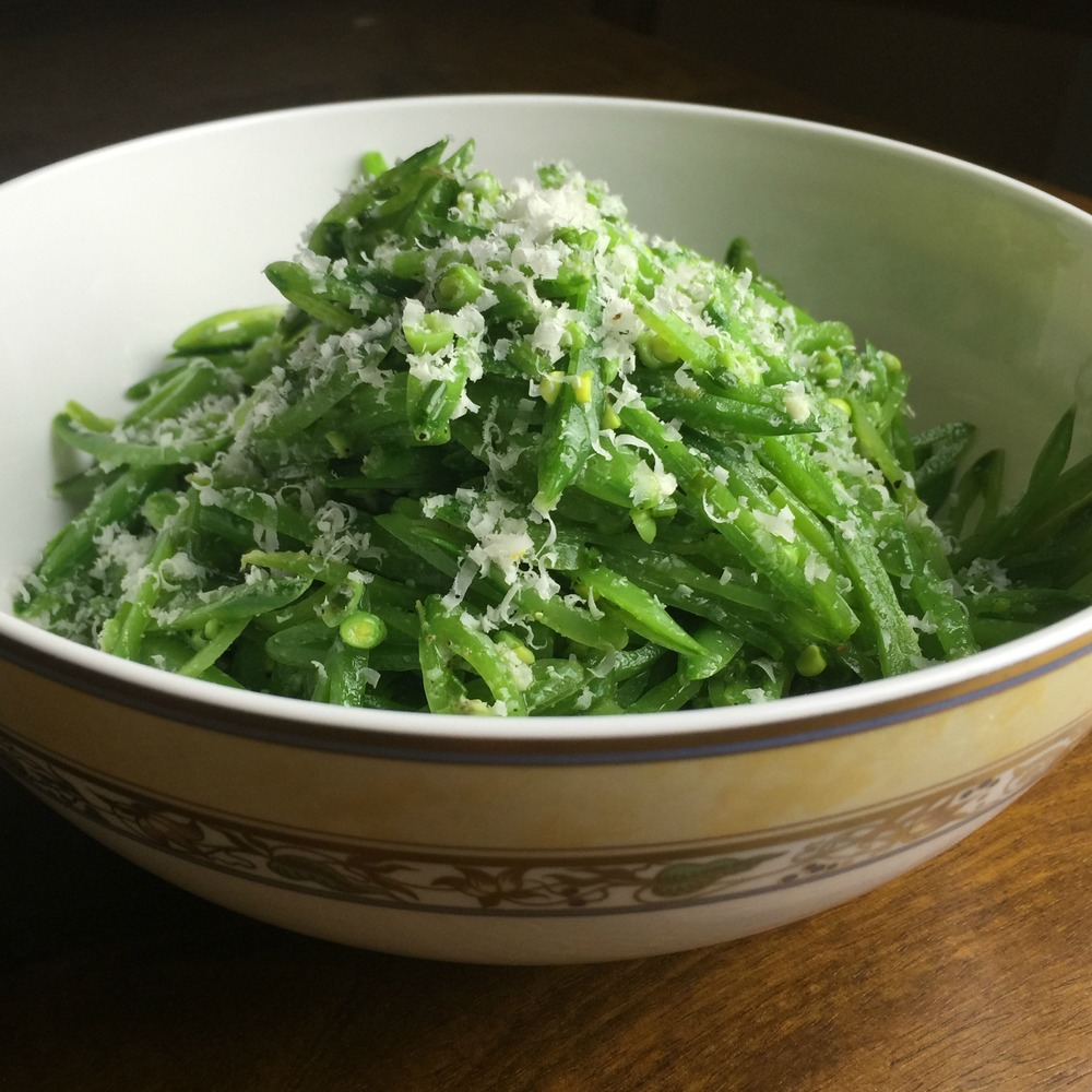 Sugar-Snap Pea Salad with Lemon and Parmesan (Vegetarian)