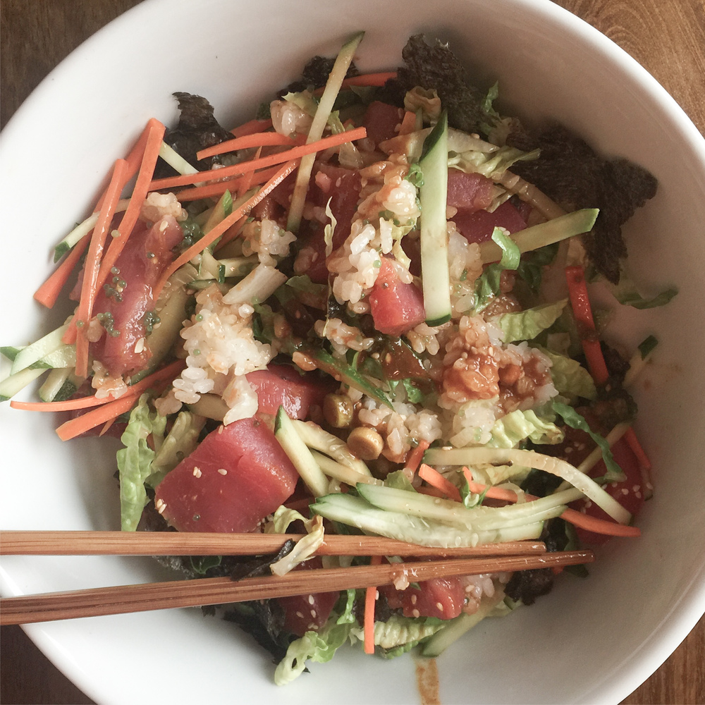 Korean Raw Fish Salad Bowl