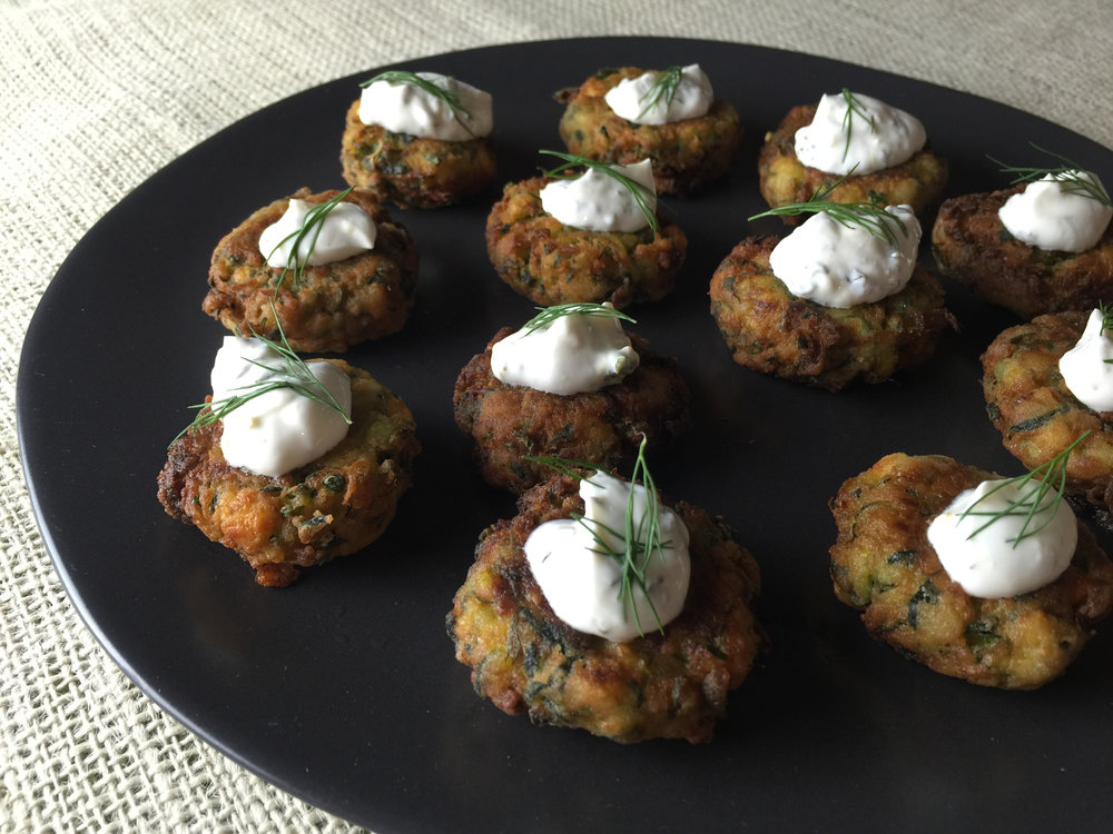 Barry's Insanely Delicious Zucchini Fritters (Vegetarian)