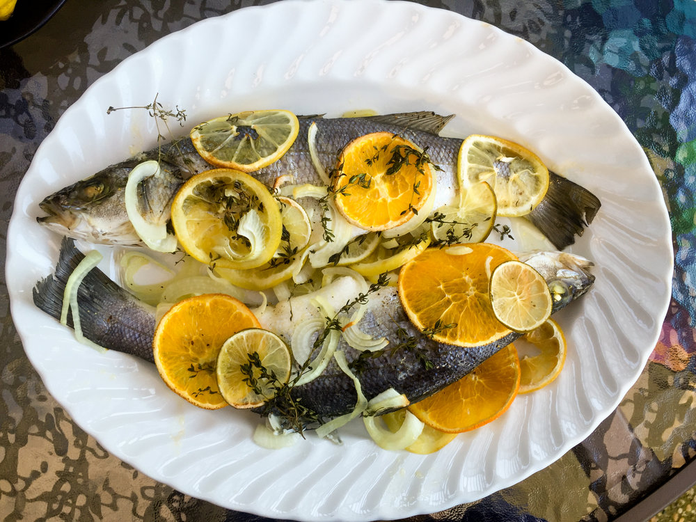 Roasted Branzino with Citrus and Thyme