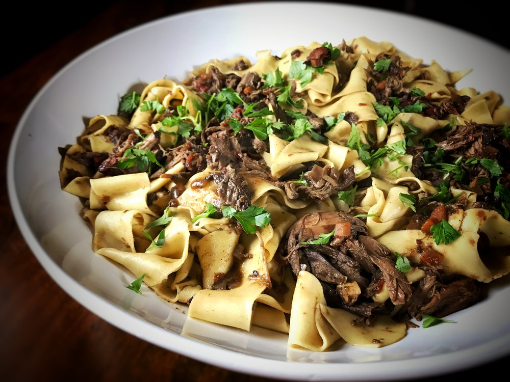 Pappardelle with Duck and Porcini Ragù