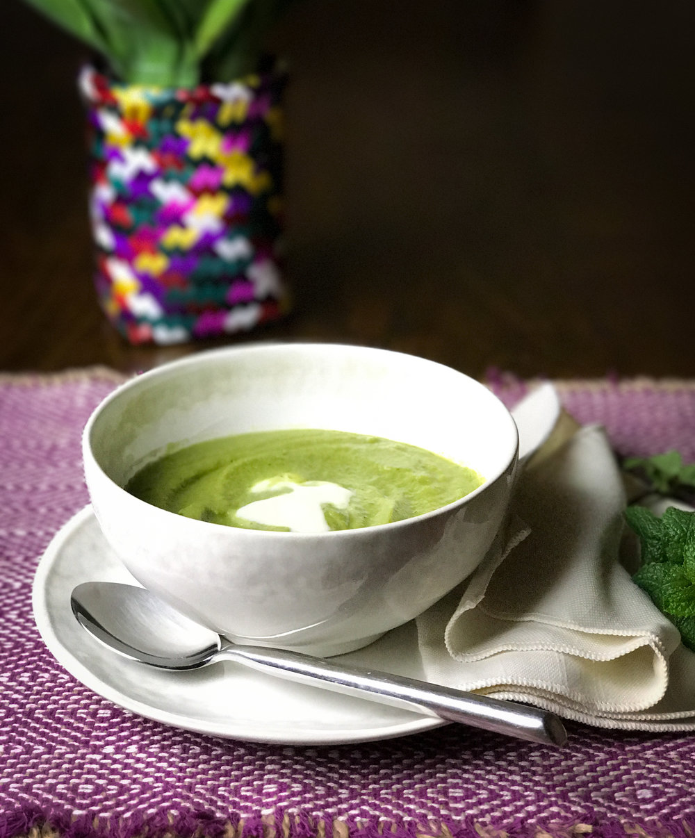 Easy-Peasy Minted Pea Soup