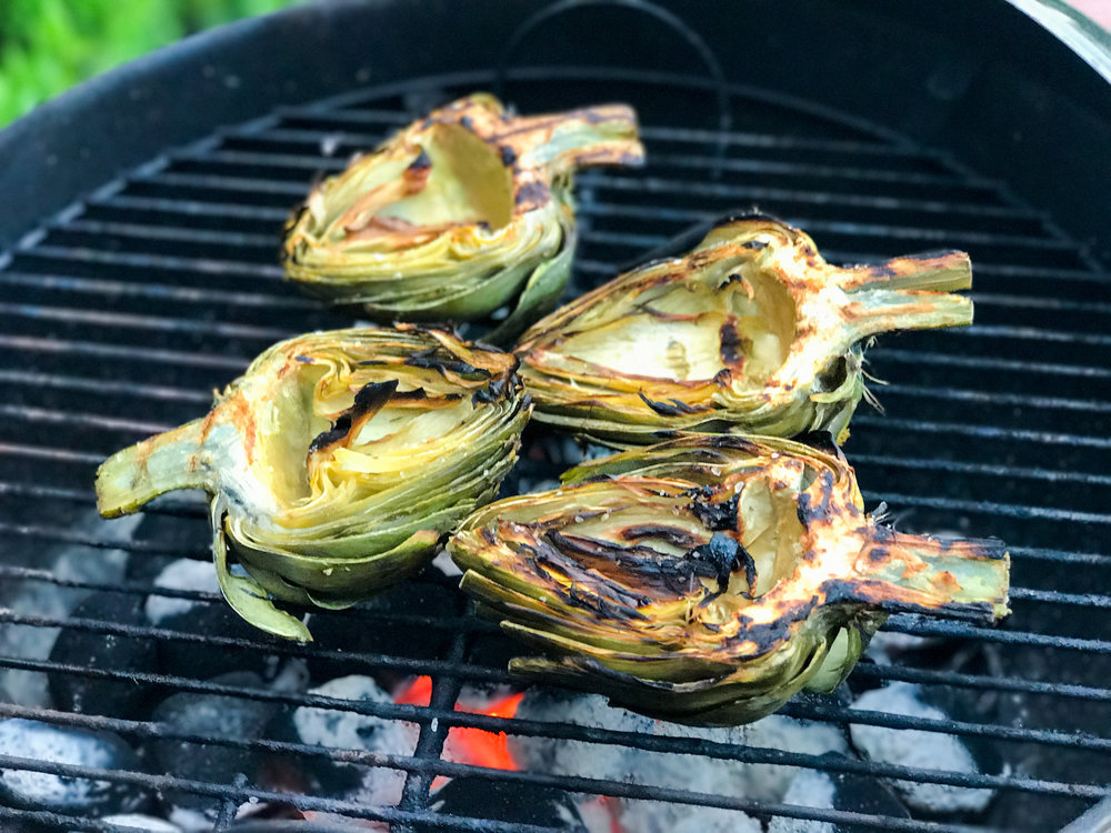Grilled Artichokes with Aïoli