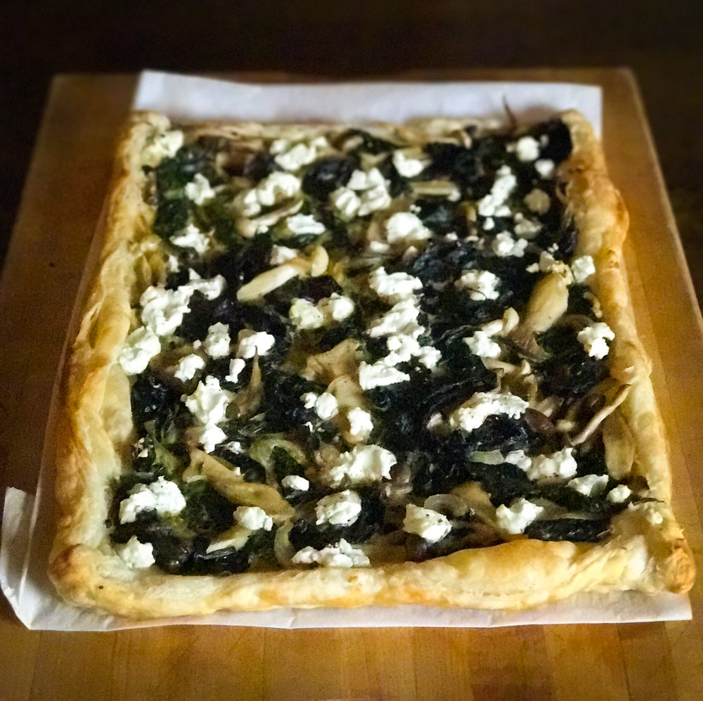 Summer Savory Tart with Chard and Mushrooms