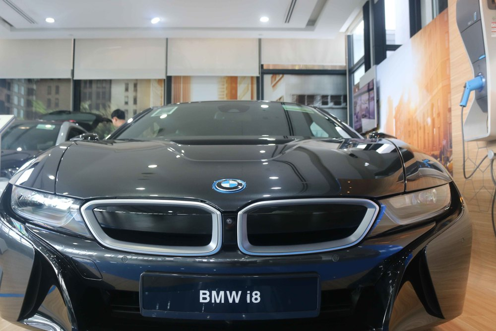 The Beast-like BMW i8. This thing packs elegance, power and efficiency all in one hybrid car