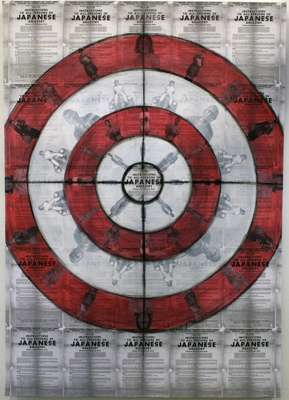 Target Practice, mixed media on canvas, 34 x 48