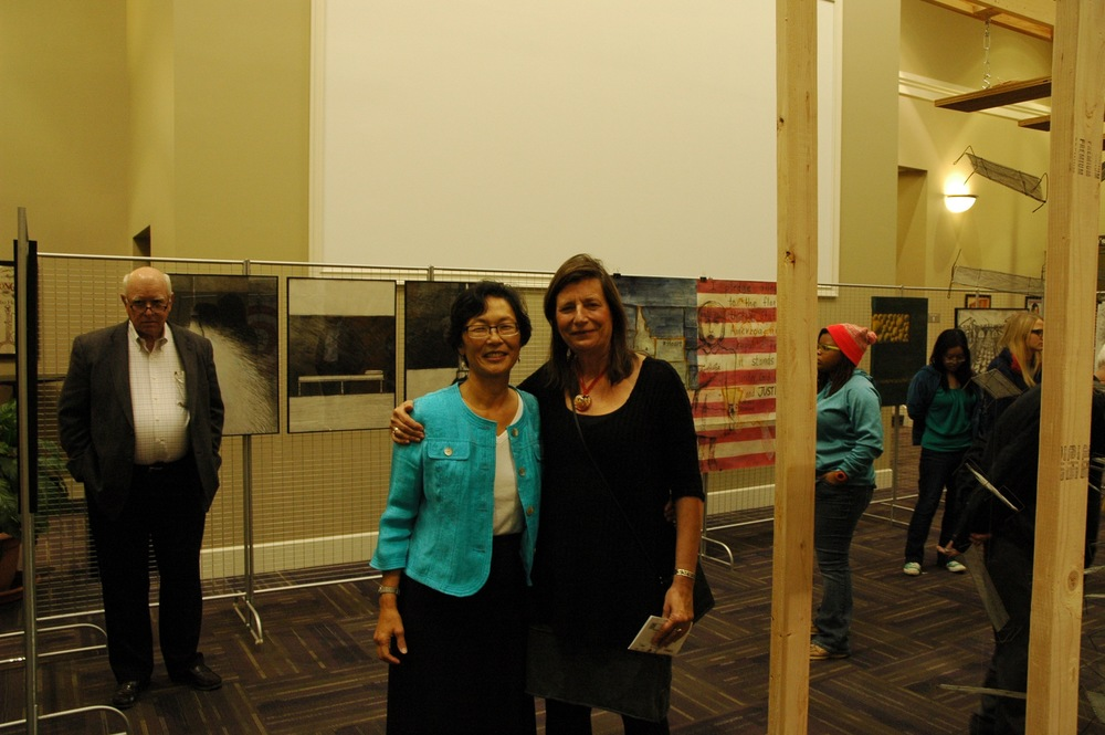 Nancy Chikaraishi and Sue Schroeder, photo by Marshall Arne.