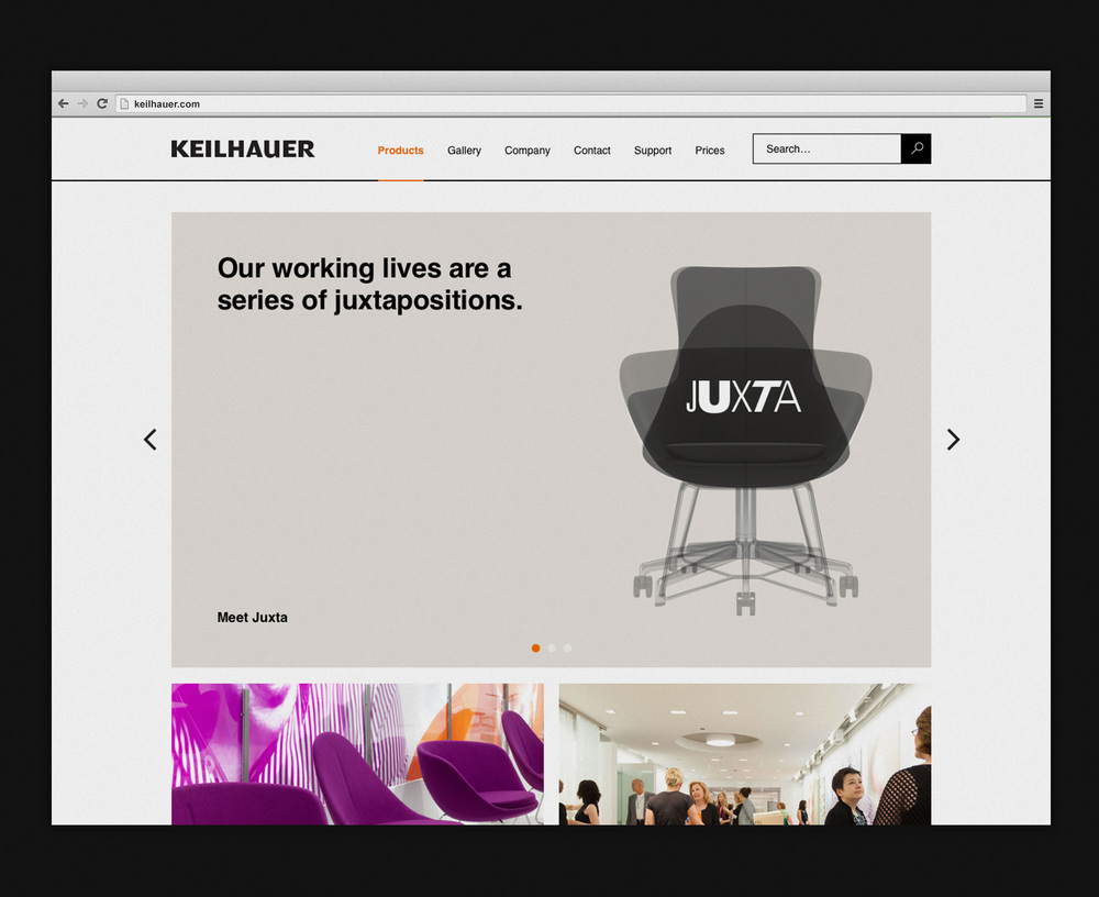 Keilhauer — Website