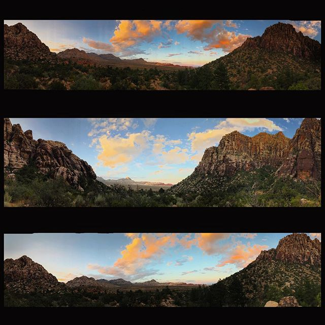 Playing with panoramas ... iPhone 7 plus at Ice Box Canyon #redrockcanyon #iceboxcanyon #nevada #lasvegas #dontfencemein #travelgram #travelnevada #panorama #sunset