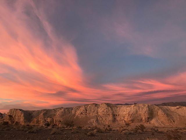 Sunset December 29, 2017 at Tule Springs. iPhone. #sunset #vegas #lasvegas #travelnevada #nvmag #sky #nevada #tulesprings #findyourpark #getoutside #landscapes #skyporn #cloudporn #itsamazingoutthere