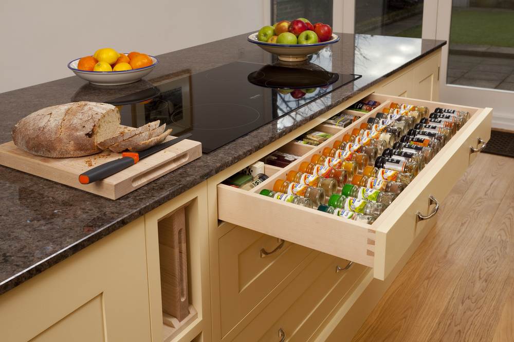 Fitted kitchen (spice drawer) by Stephen Richards
