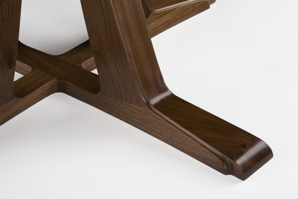 Walnut Table (detail) by Christopher Hughes.