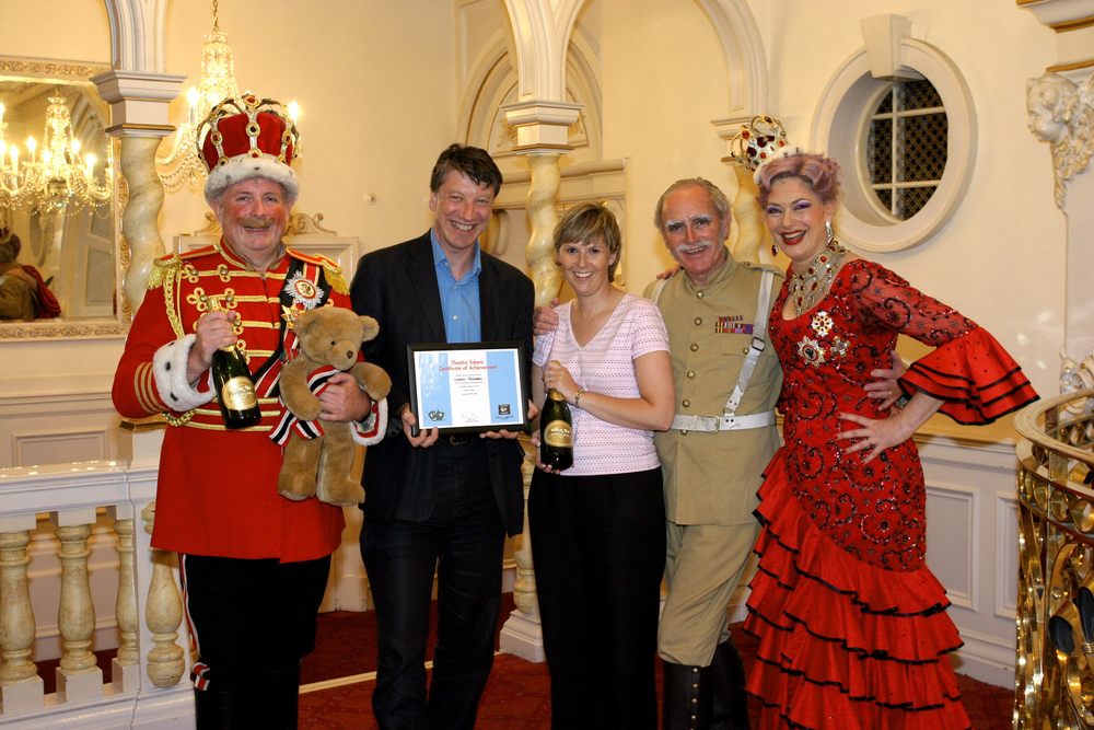 Theatre Tokens awarding Christopher Biggins and cast of Chitty Chitty Bang Bang.