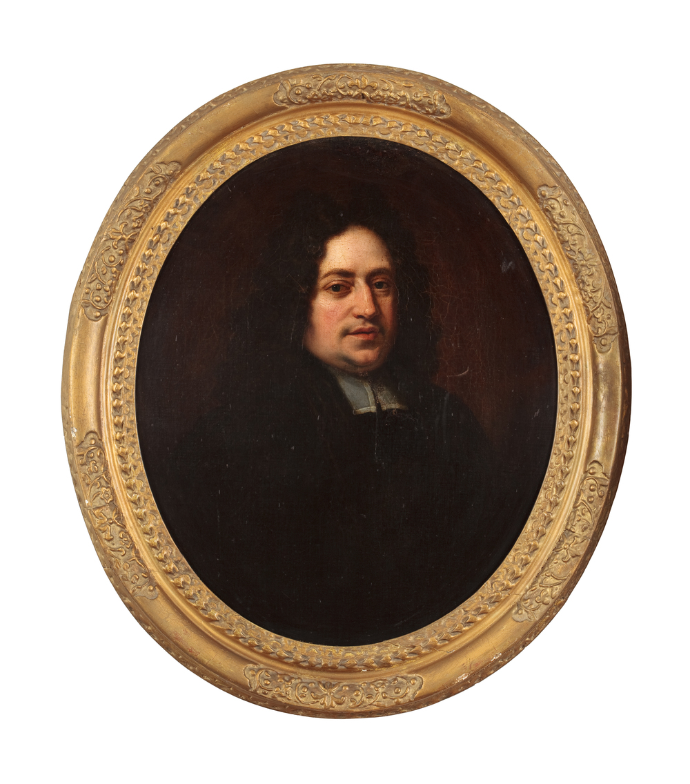 "Copy of artwork and frame, ""Pastor Ruperti"" from Hogarth House Collection."