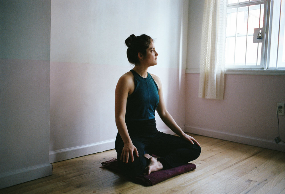 Pictured after teaching an open-level yoga class at The Shala in Fort Greene, Brooklyn.  (Photography: Chioke Nassor)