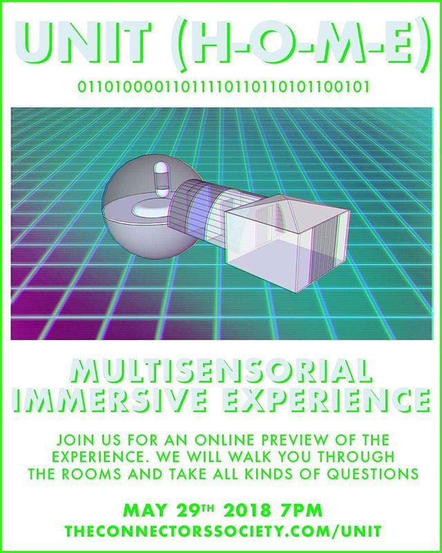 Welcome to UNIT (H-O-M-E) a multisensorial science fiction experience about #transhumanism and future living spaces.  We are previewing the experience online next May 29th 7PM (CEST) and taking questions. . . It's the future so humans wear implants to help them navigate the world around them. But outside earth there is a home for those that will upload themselves to the cloud after life. The better the original, the better the copy, so you need a home space to get ready. Come experience The Unit and try out our services. Link in description.  #transhumanism #immersive #immersiveexperience #experiences #experiencedesign #afterlife #lifeextension #unitexperience #multisensorial #multisensory #userexperience #immersiveart #immersiveevents