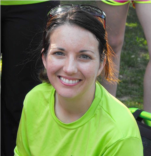 "Andrea Lytle Peet   ""Andrea Lytle Peet was diagnosed with ALS in 2014 at the age of 33, less than a year after completing 5 triathlons, including a 70.3-mile half Ironman.  Remarkably, she has continued to participate in races. Since diagnosis, she has completed 3 triathlons, 4 half marathons, and 3 marathons. Her goal for 2016 is to do 12 races on her recumbent trike, each in honor of someone with ALS who has inspired her.""  She is the founder of the Team Drea Foundation."