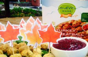 TurkeyMeatballs with cranberry dipping sauce