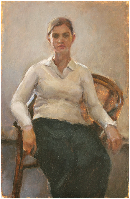 Seated Woman Preliminary Portrait Study