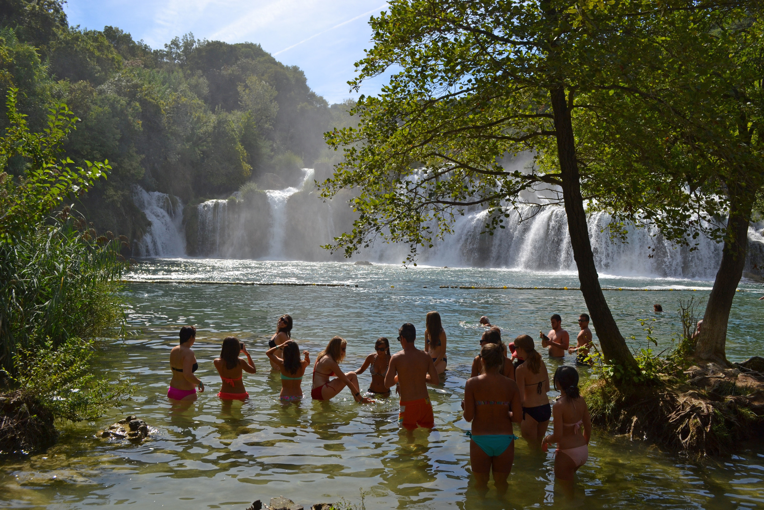 Krka waterfalls swimming
