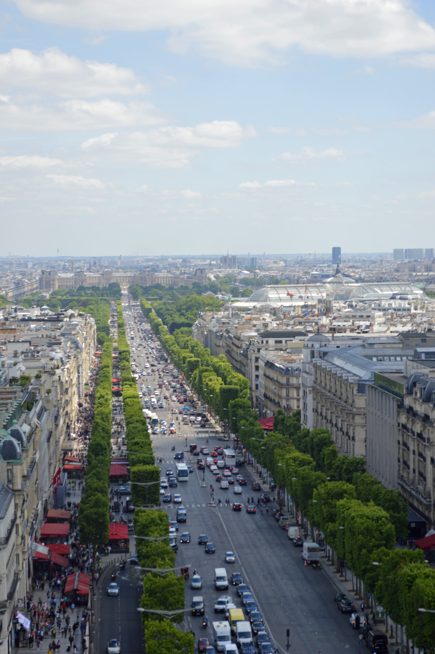 View of Champs Elysee from Arc de Triomphe