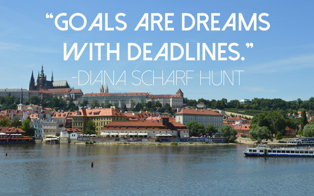 Goals Are Dreams With  Deadlines - Prague - goseekexplore
