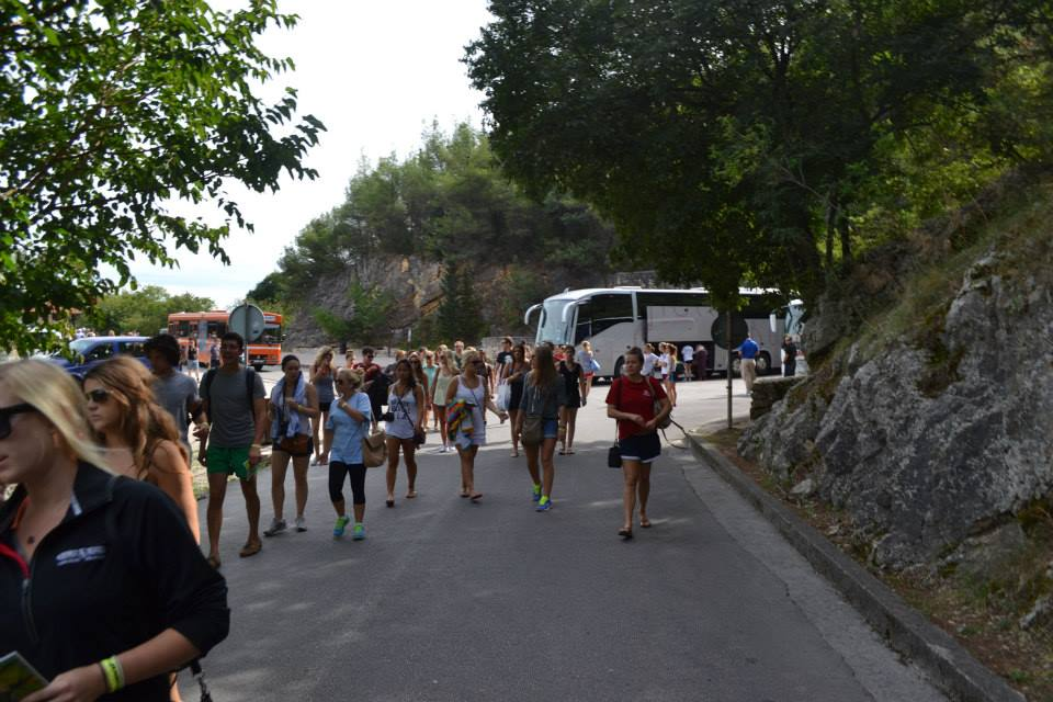 Just off the bus to see the Krka waterfalls in Croatia