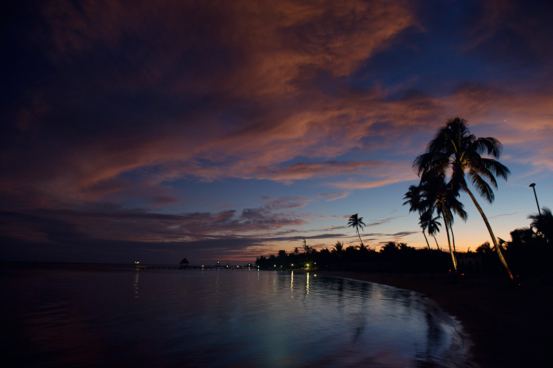 belize sunset beach