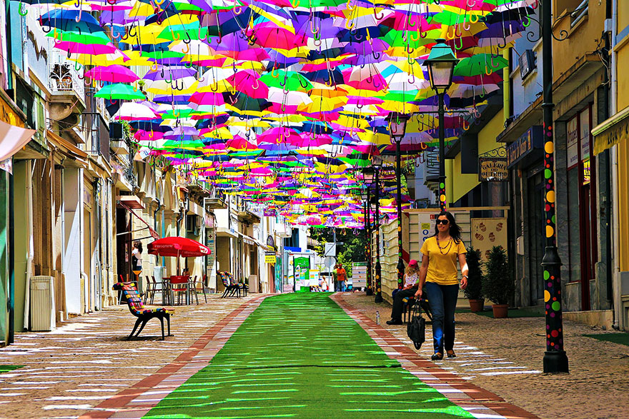 agueda portugal umbrellas
