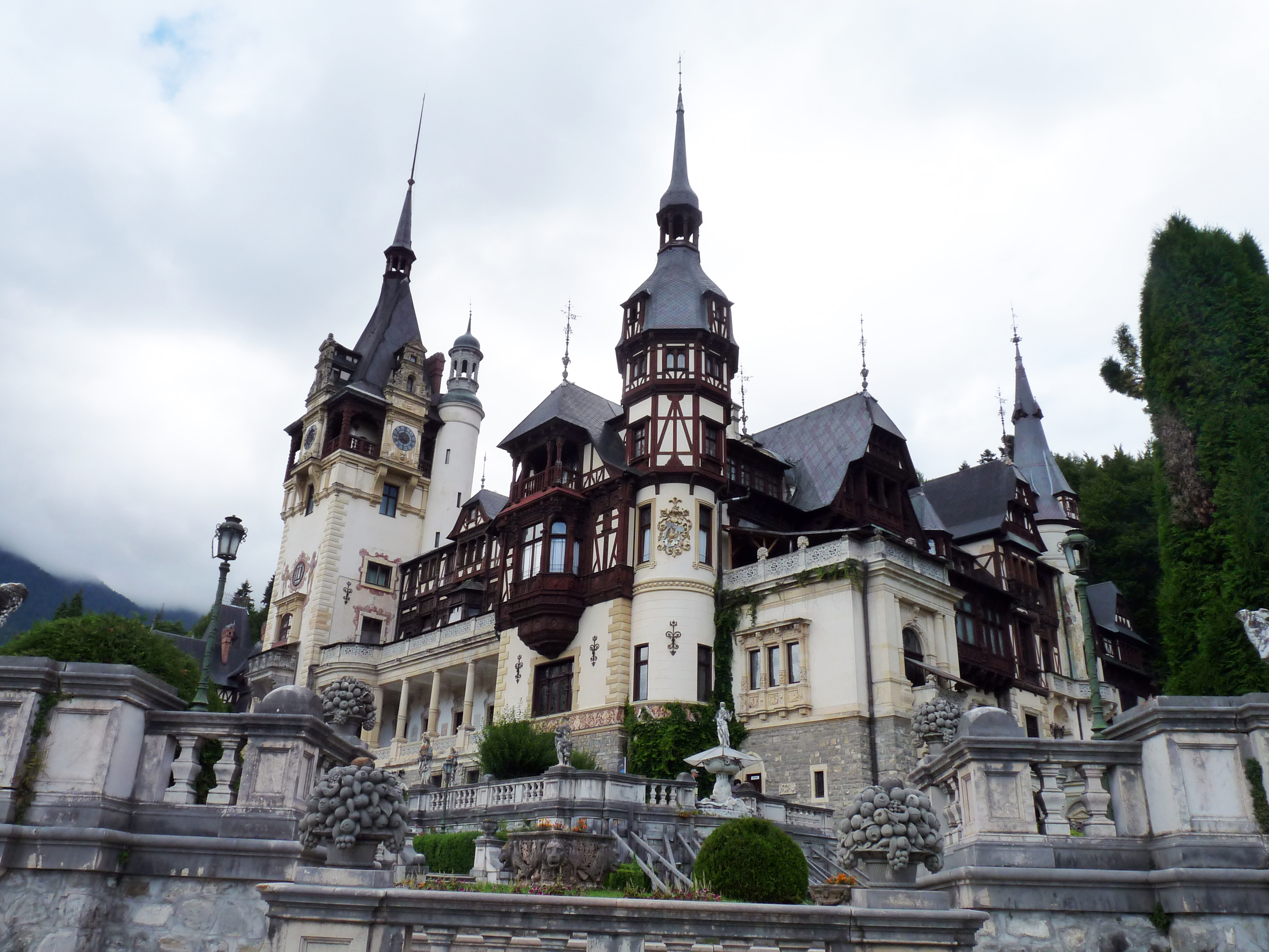 peles castle near sinaia romania