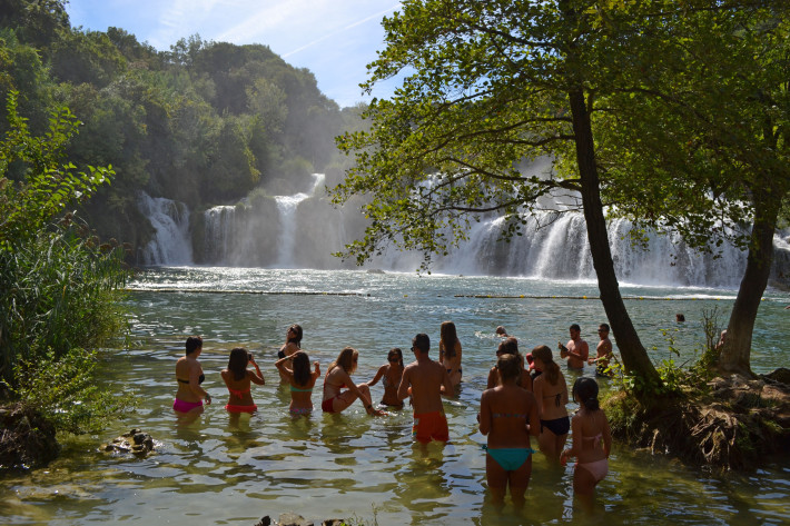 Krka-waterfalls-swimming