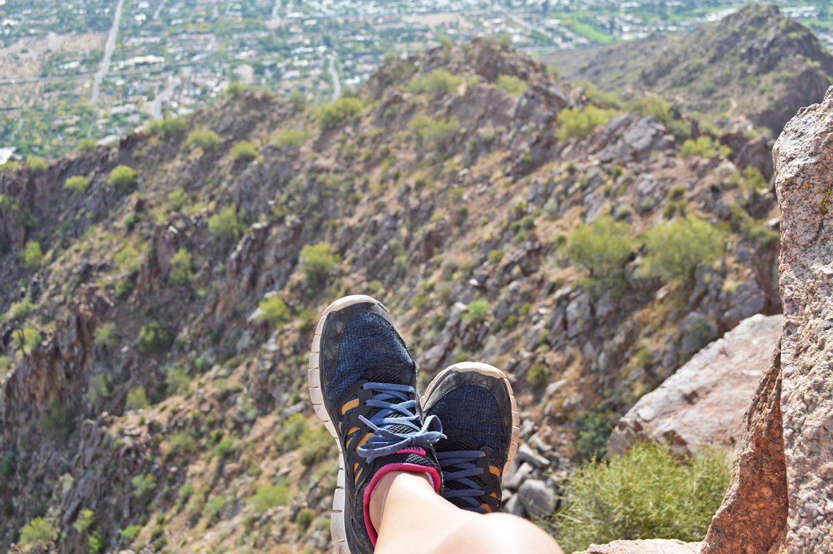 At top of Camelback Mountain, Phoenix AZ