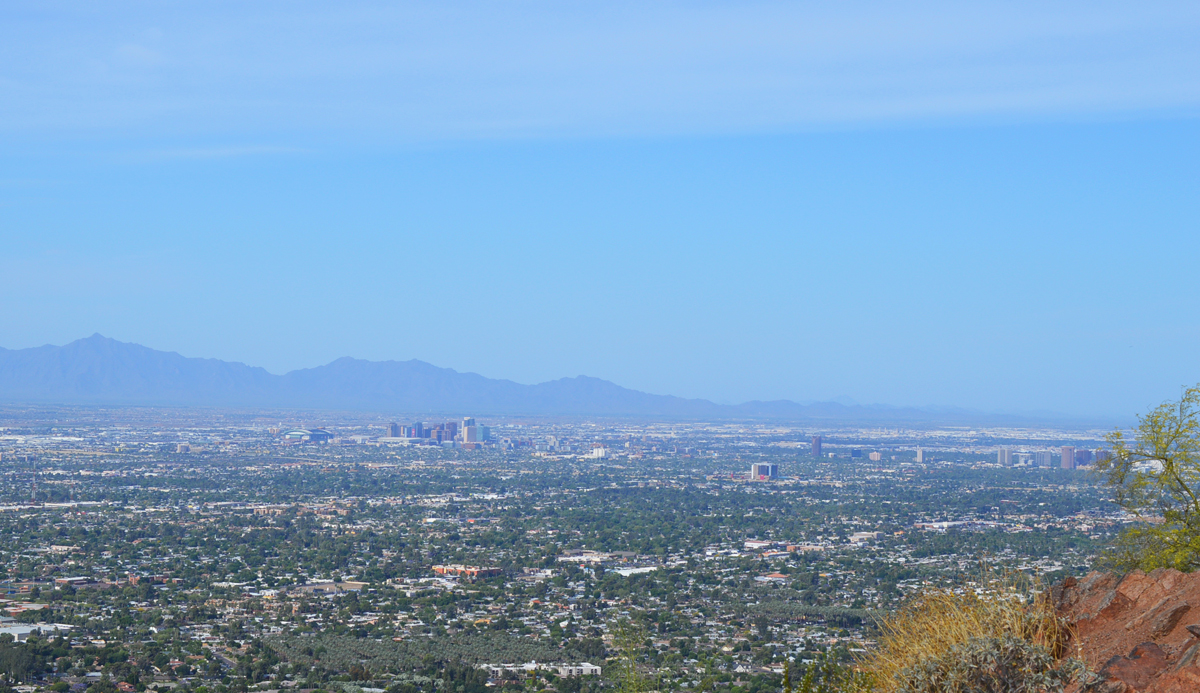 View of Downtown Phoenix from Camelback