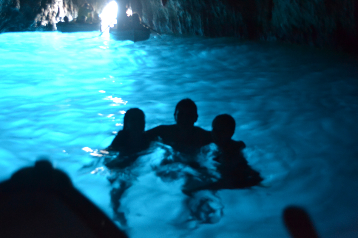 Swimming in Blue Grotto