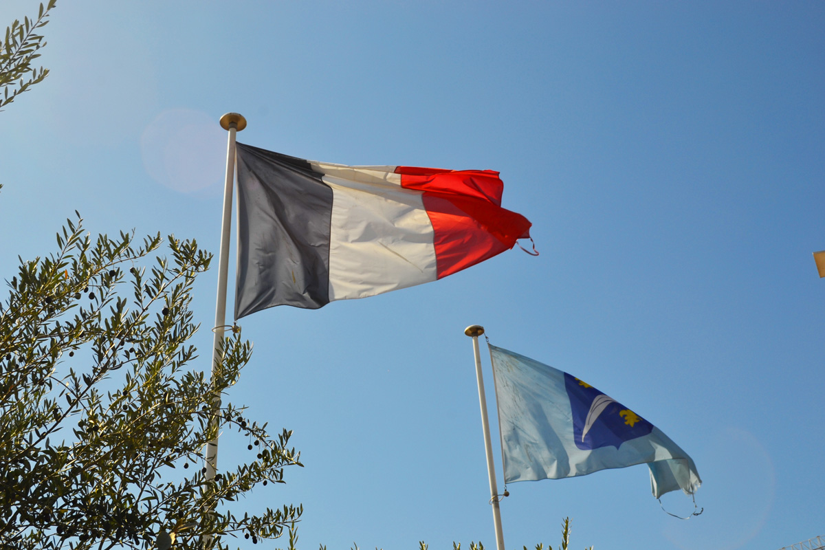 French Flag in Southern France