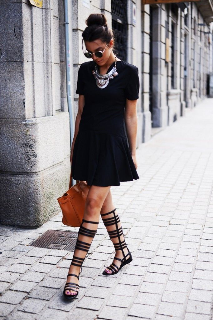 LBD with statement accessories