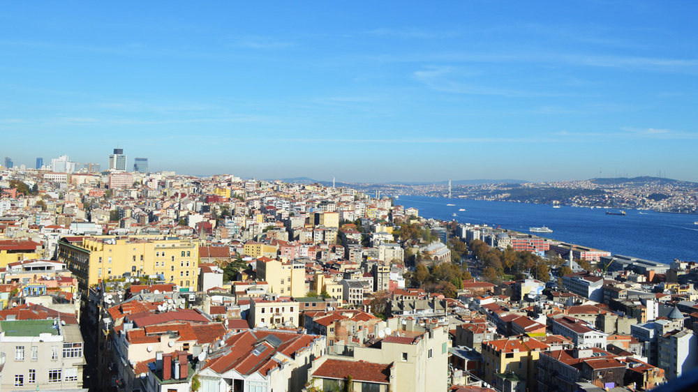 Galata Tower view in Istanbul, Turkey