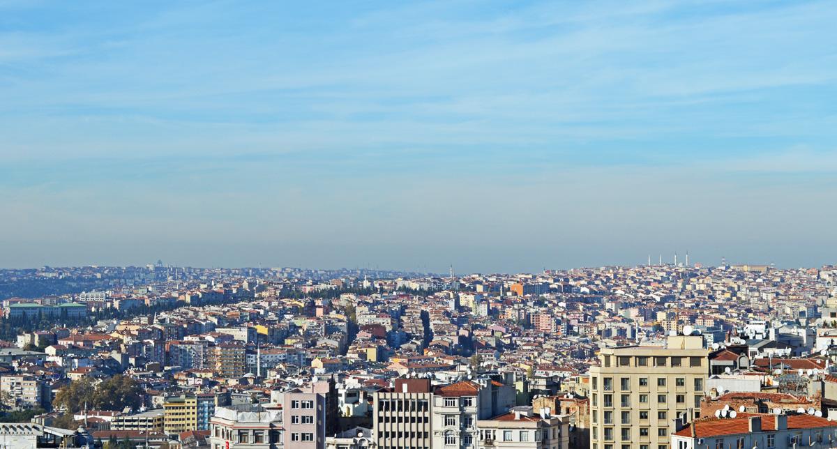 Istanbul Turkey Galata Tower View