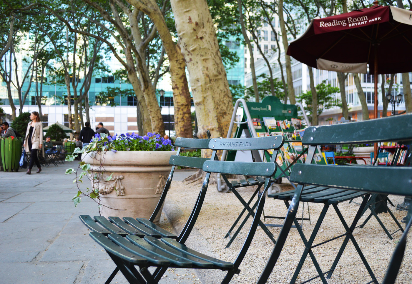 Bryant Park Chairs Reading Room