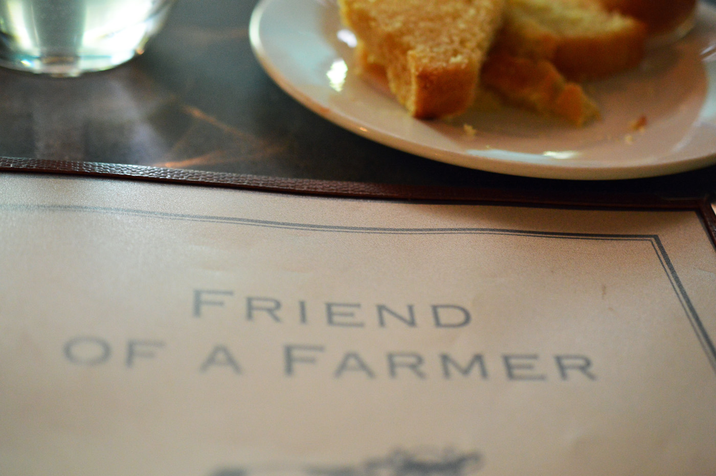 Friend of a Farmer Menu