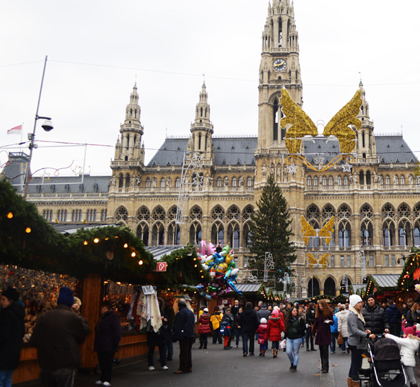 Vienna Austria Christmas Markets Cropped