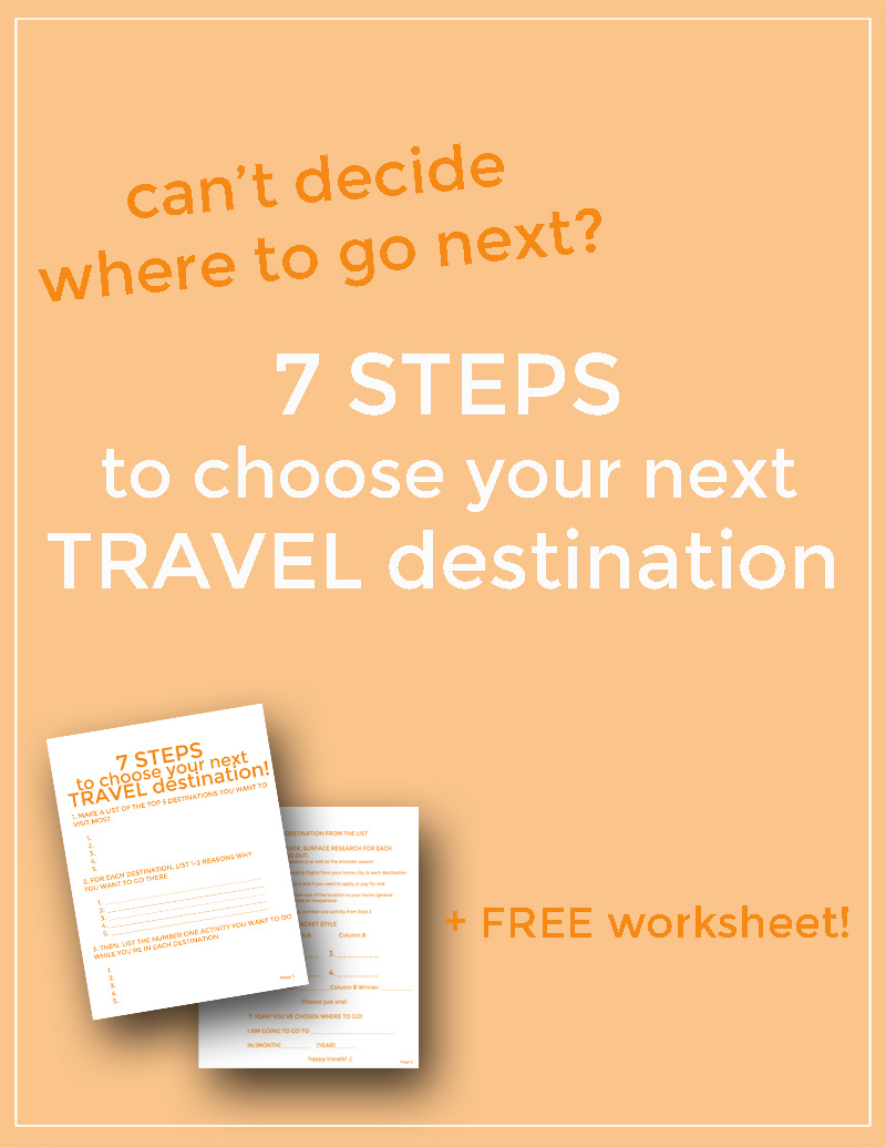 7 steps choose next travel destination