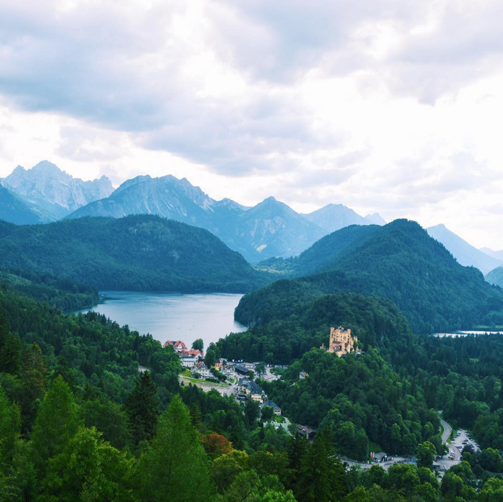 view from neuschwanstein castle in germany